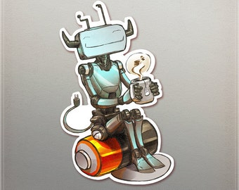 Tea Bot Sticker