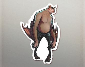 Man Bat Sticker