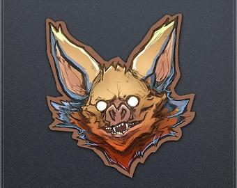 Bat Head Sticker