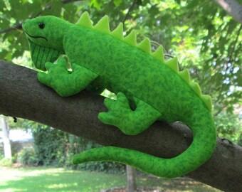 Fabric Iguana keychain, ornament, accessory