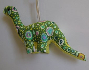Fabric Apatosaurus Dinosaur keychain, ornament, accessory