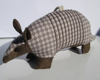 Fabric Armadillo keychain, ornament, accessory
