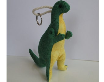 Fabric Poseable Iguanodon Dinosaur keychain, ornament, accessory