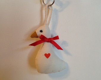 Fabric Goose with Heart