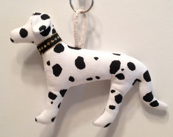 Fabric Dalmatian Dog keychain, ornament, accessory