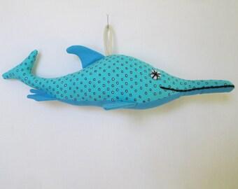 Fabric Ichthyosaurus Dinosaur keychain, ornament, accessory