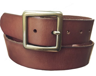 Black Memel Belt 40mm Hand Made Real Leather Snap on Buckle England xl w7