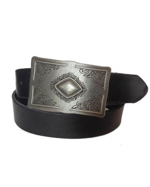 men western genuine leather bull rider texas star buckle belt M L XL