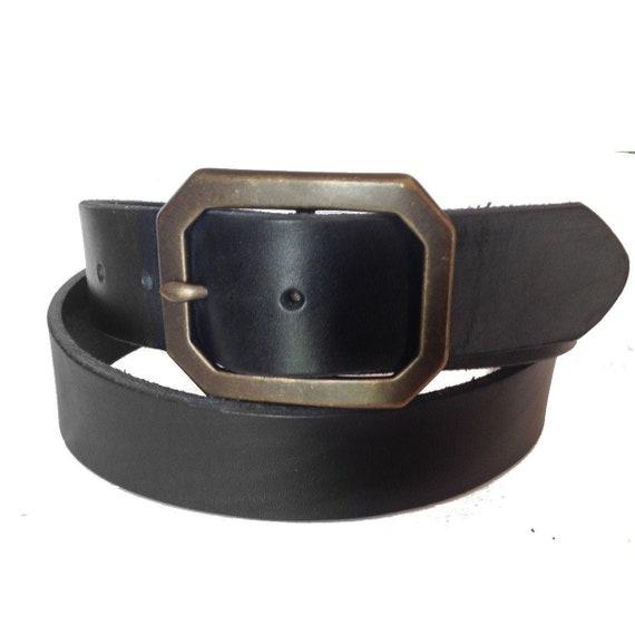 NEW Black Brown Men/'s Casual Geunie Leather Dress Buckle Belt Strap Snap M L XL