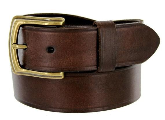 Cowhide 100/% Leather Casual Jean Belt 1-1//2/'/' Wide Black changeable Buckle