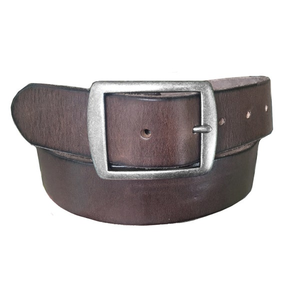 XL NEW L Italy Style Brand Men/'s Leather Black//Brown Belt Size S M
