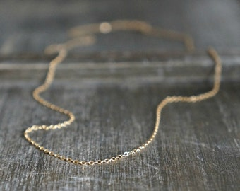 Plain Gold Chain Necklace // Shimmering 14k Gold Filled Chain / Short or Long • Simple and Pretty • Layering Necklace • choose your length