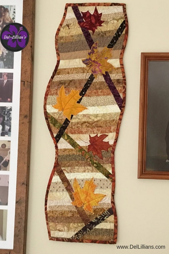 Fall Art Quilt Modern Quilt Contemporary Quilt Quilted Wall | Etsy