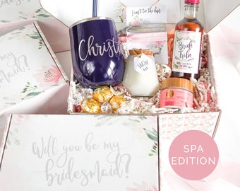 Bridesmaid Proposal, Bridesmaid Box Set, Asking Bridesmaid, Will you be my Bridesmaid Gift, Personalized Bridal Party Gift, Wedding Party