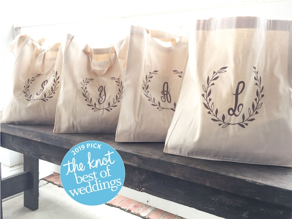 Hand Painted Custom Canvas Market Bag Tote Give Thanks in Laurel Wreath