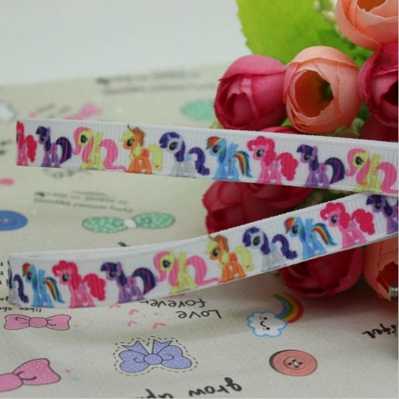 Printed Grosgrain Ribbon Pony 38 Colourful Print Ribbon Bows Headbands Crafts Sewing Accessories