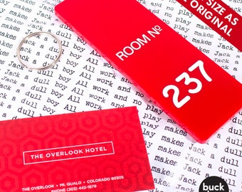 Room 237 - The Overlook Hotel Key Fob/Keyring - Inspired by The Shining