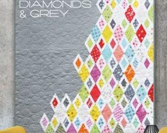 "Pattern ""Diamonds & Grey Quilt Pattern"" by Zen Chic Paper Pattern Instructions"
