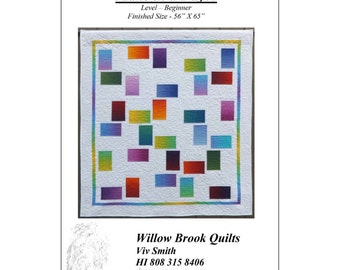 """Pattern """"Random 1"""" Quilt Pattern by Willow Brook Quilts (WBQ247) Paper Pattern"""
