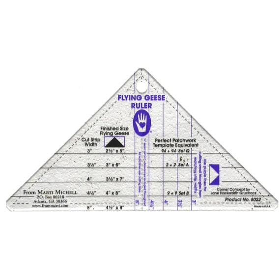 3-1//2 Inch and 4-1//2 Inch Rulers TQM Products Triangle Tool 2-1//2 Inch