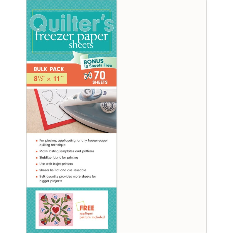 Bulk Pack by C/&T Publishing 20315 Sewing Notion Applique Quilter/'s Freezer Paper Sheets