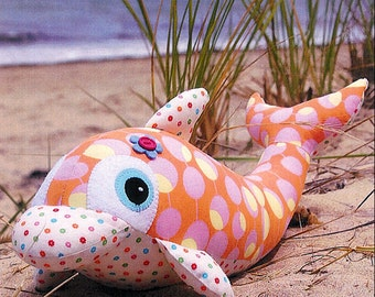 Pattern ''Dee-Dee'' Dolphin Soft Sculpture, Stuffed Toy, Softie, Cloth Toy Sewing Pattern by Melly & Me (MM088)