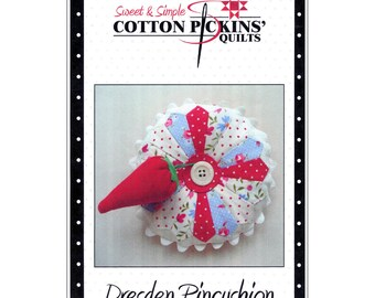 """Pattern """"Dresden Pincushion"""" by Cotton Pickins' Quilts Paper Pattern"""