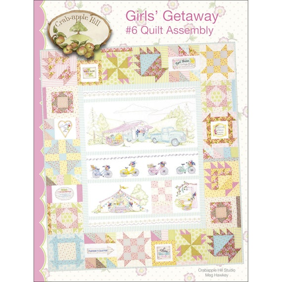 From Crabapple Hill Studio GIRLS GETAWAY #1 PICKUP /& TRAILER HAND EMBROIDERY