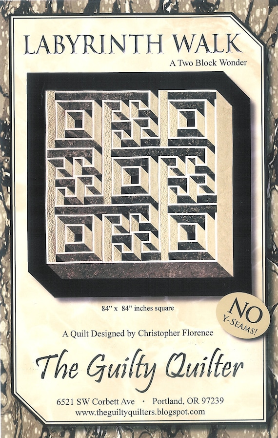 Quilt Pattern Labyrinth Walk Instruction Guide Pattern By Etsy Gorgeous Labyrinth Walk Quilt Pattern Free