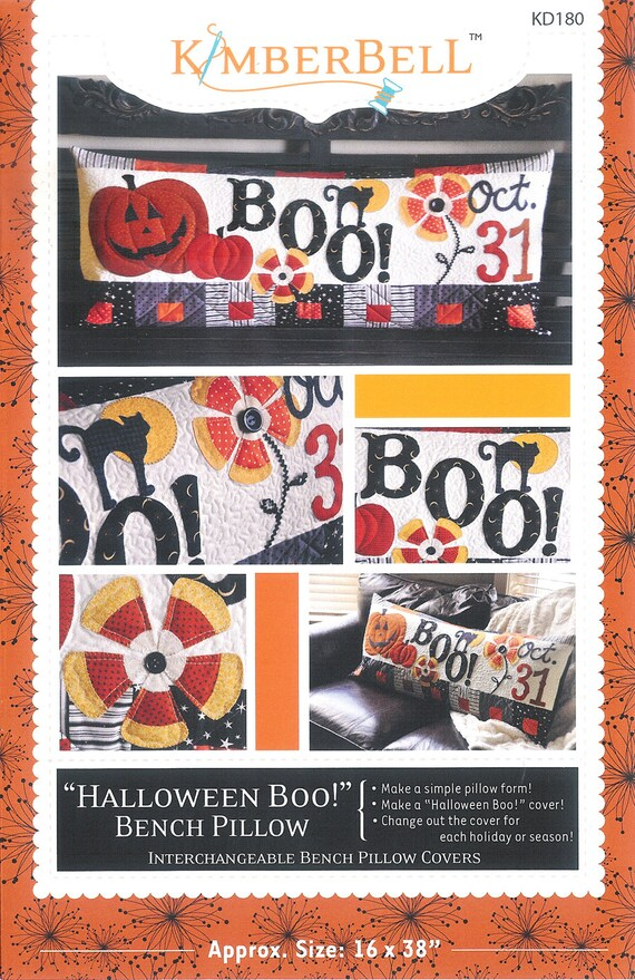 Pattern Boo Bench Pillow Paper Sewing Pattern Etsy