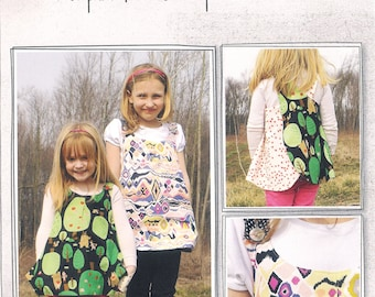 Pattern - Roly-Poly Pinafore Tunic for Girls Paper Sewing Pattern by Imagine Gnats