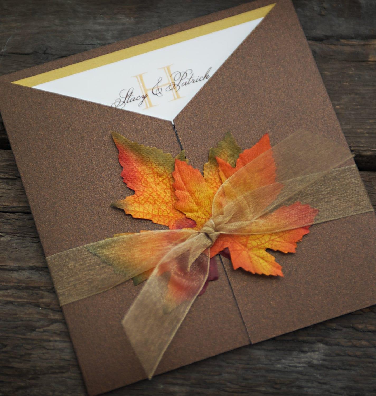 50: Orange And Brown Wedding Invitations At Reisefeber.org