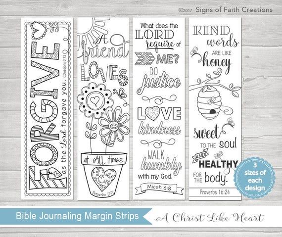 Bible Journaling Printable Margin Strips Coloring