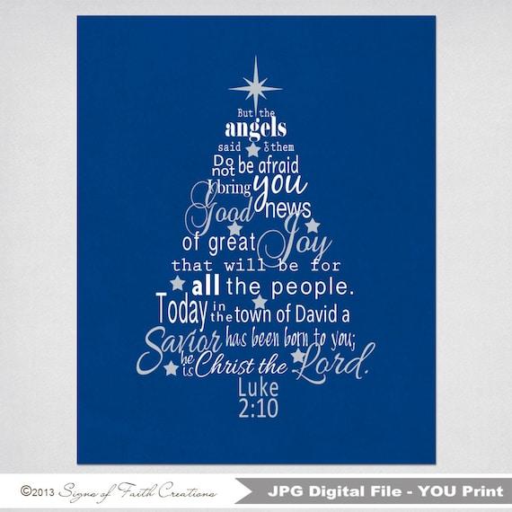 Bible Verses For Christmas.Luke 2 Bible Verse Christmas Tree Subway Art Instant Download Printable Digital File Scripture Art Great Christmas Decoration