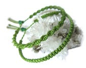 X2 Green Apple Friendship Bracelet/Bohemian/Surf Macrame Woven/Braided Threads Bracelet Handmade Réf.PP+PS352
