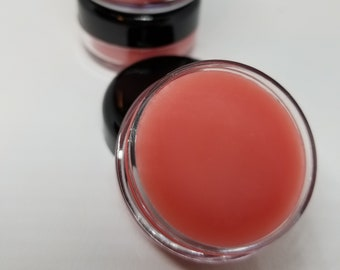 Lip Hydrate and Protect, All natural tinted Lip Balm, Watermelon Glossy Lip Balm, Organic Oils and Beeswax, Soap Esteem Co