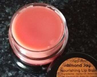 Lip Hydrate and Protect, All natural tinted Lip Balm, Almond Joy Glossy Lip Balm, Organic Oils and Beeswax, Soap Esteem Co