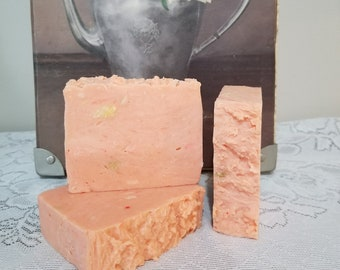 Organic Triple Butter Soap, Sweet Orange Soap, Unique Gift for the Citrus Lover, Gardener Soap, Full Body Skin Care