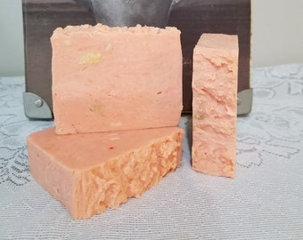 Organic Triple Butter Soap, Sweet Orange Soap, Unique Gift for the Citrus Lover, Gardener Soap, Full Body Skin Care