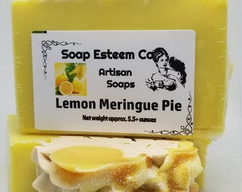 Organic Lemon Soap, Lemon Meringue Pie Soap Bar, Unique present in the Easter Basket, Spa gift Item