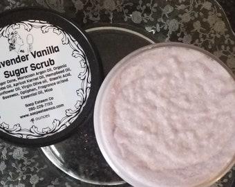 Organic Lavender and Vanilla  Sugar Scrub, Organic Body Polish, Unique Birthday presents, Great Bridesmaid Gifts