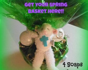 Old fashion Easter Basket full of Soap