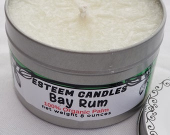Organic Travel Candle. Bay Rum Organic Candle, Relaxation gift, Unique gift for Traveler