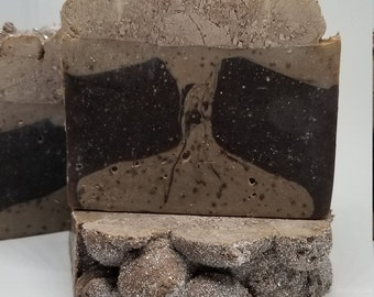 Natural Hazelnut Coffee Exfoliating Soap Bar. Unique idea for Coffee Lover. Spa Gift Basket present. Bridesmaid gifts