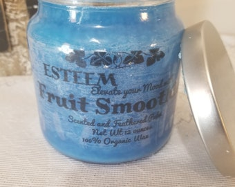 SOLD OUT, Elegant Fruit Smoothie Feathered Candle