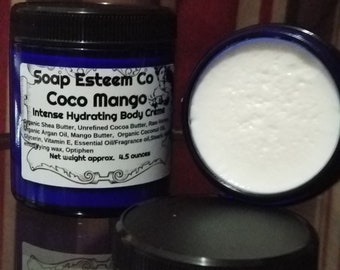 Sold Out so Sorry!! Skin Firming Hydration Body Creme,  Coco Mango Body Creme, Welcome home gift, Unique Birthday present for her and him