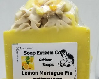 Organic LemonGrass  Soap, Lemon Meringue Pie Soap Bar, Unique present for her and him, Spa gift Item, Natural Skin Care