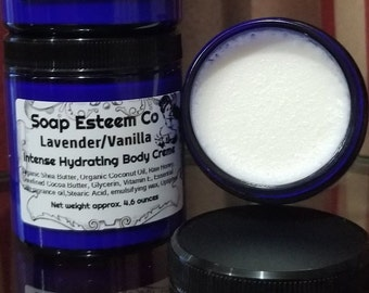 Skin Firming Hydration Body Creme, Lavender/Vanilla Body Creme, Welcome home gift, Unique Birthday present for the women in your life