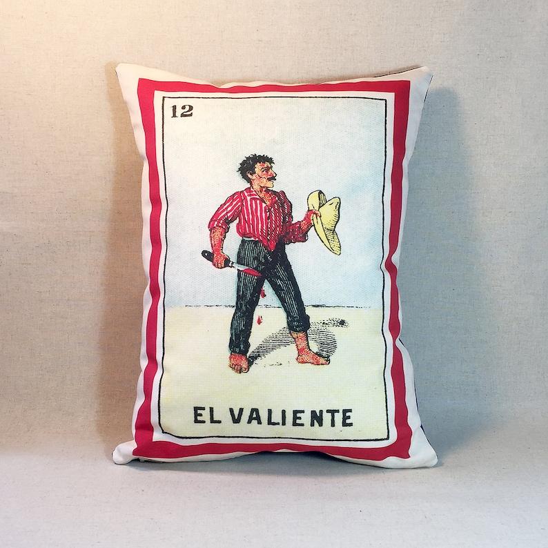 Day of the Dead Loteria Musician Man SHIPS FREE: El Musico Musician Loteria Pillow Dia de los Muertos Vintage Mexican Loteria