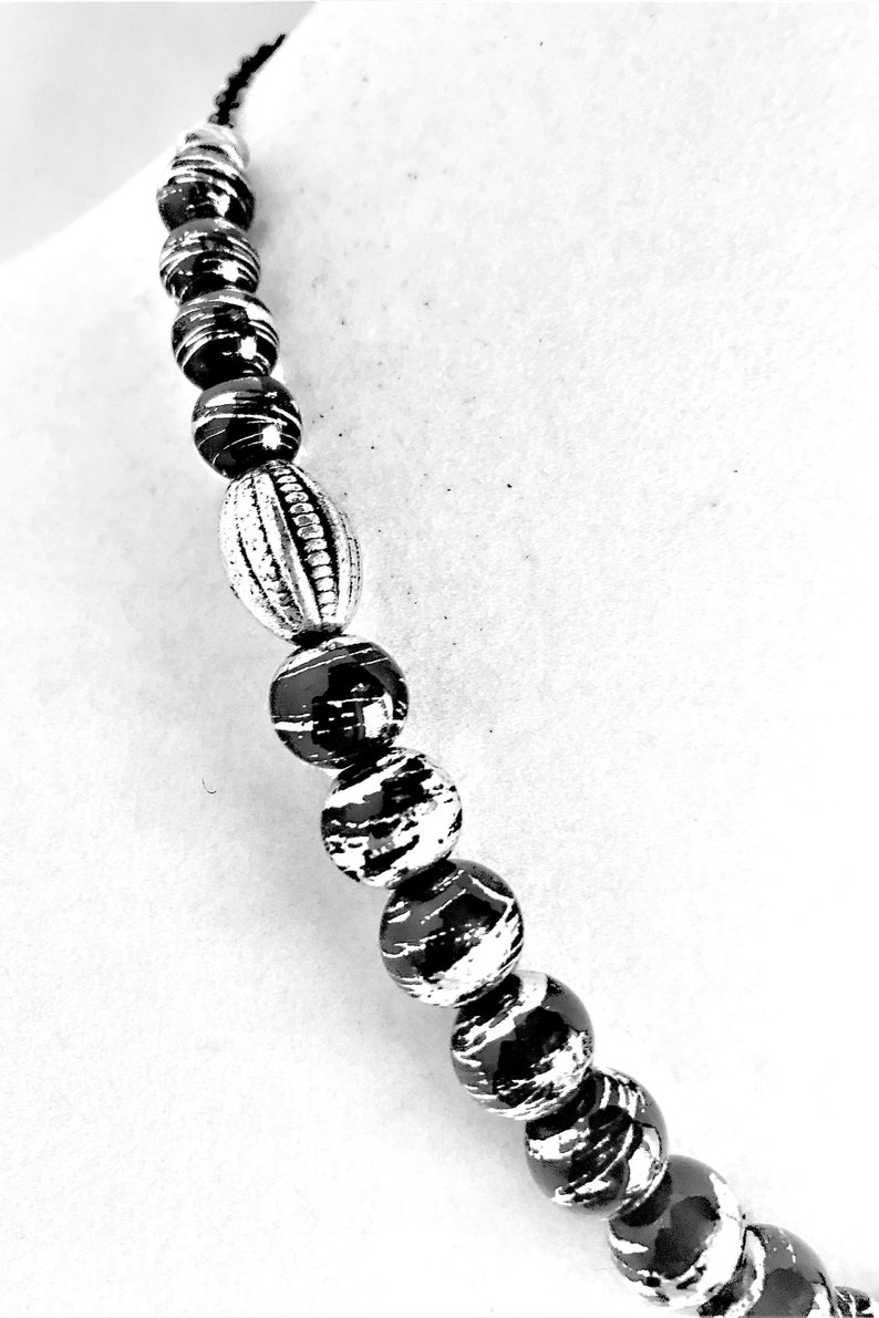 Black /& Silver Swirls Jewelry Set